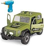 FANPING Desarmar el taladro del juguete con la herramienta del coche, for niños Juguetes de construcción de vehículos, ensambles de bricolaje de coches de juguete kit de construcción de luces y los so