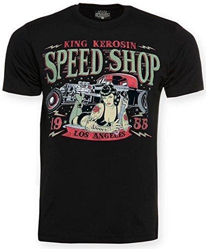 King Kerosin, Speed Shop LA, Regular-T-Shirt, Black