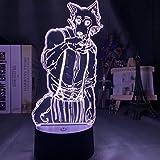 Acrylic 3D Night Light Legosi Figure for Kids Bedroom Decoration Nightlight Cool Anime Gift USB Table Lamp Beastars Dropshipping-7_colors_no_remote