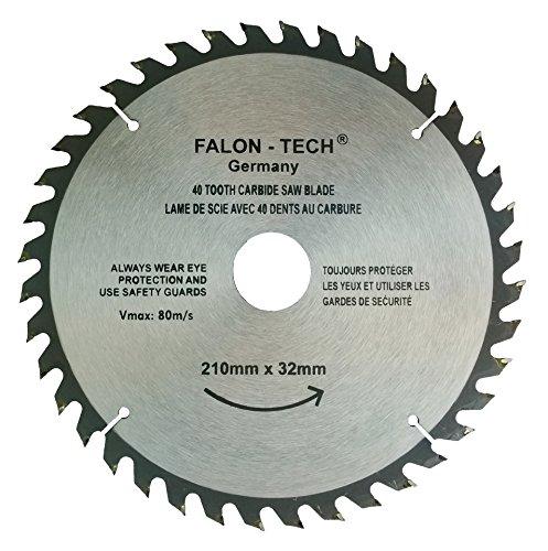 Falon Tech - Lama per sega circolare per legno, 210 x 32-30 mm, 40 denti