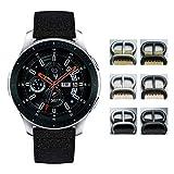 Bandas de Reloj compatibles con Samsung Galaxy Watch 42mm/46mm,Active 2,Samsung Gear S3 Classic/Frontier Smartwatch Reemplazo de Correas de Lona de algodón 20mm 22mm Pulsera para Hombres Mujer