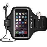 iPhone 6/6S/7/8 Plus Brazalete, JEMACHE Dactilares Touch Apoyo Exclusivo Running Pasear Ejercicio Gimnasio Deportivo Brazo Banda Armband para iPhone 6/6S/7/8 Plus (iPhone 6/6S/7/8 Plus, Black)