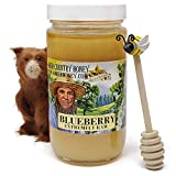 Goshen Honey Amish Extremely Raw BLUEBERRY Blossom Honey 100% Natural Honey Health Benefits Unfiltered OU Kosher Certified   1 Lb Glass Jar