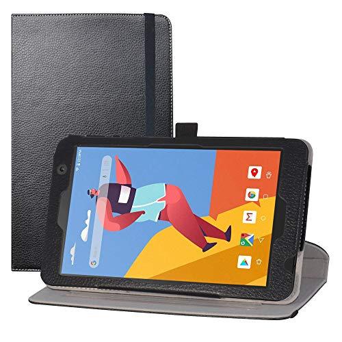 LFDZ Funda MatrixPad S8,Cuero Sintético Rotación de 360 Grados de Función de Soporte para 8' Vankyo MatrixPad S8 / Dragon Touch Notepad Y80 Tablet,Negro
