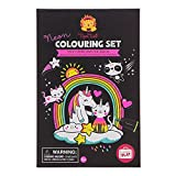 Tiger Tribe- Neon Colouring Sets/Unicorn&Friend Kits de Acuarelas, Multicolor (3760258)