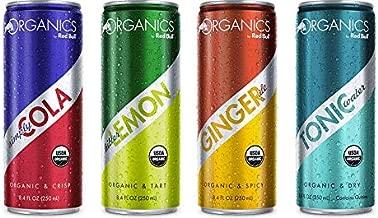 Red Bull Organics Variety Pack: Smiply Cola, Bitter Lemon, Ginger Ale, Tonic Water. 8.4ounce (Pack of 12)