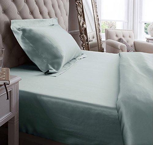 Sábana bajera ajustable de seda de Jasmine Silk, 100 % Mulberry, 19 mm, seda sintética, crema, DOUBLE 140 x 190 + 26 cm