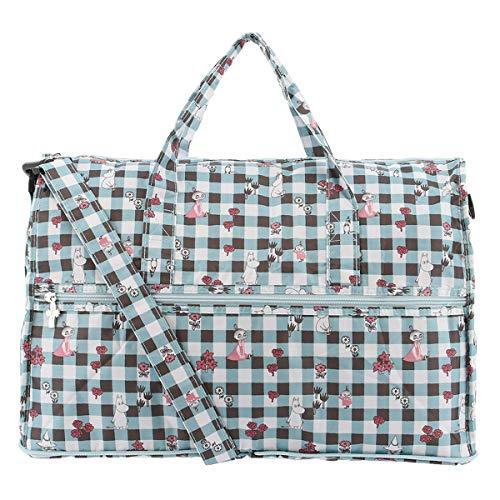 [ムーミン] 折りたたみ バッグ レディース MM3-010 MOOMIN ボストンバッグ 旅行 パッカブル 【CH-BL】チェックブルー