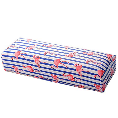 Coussin Manucure Coussin Ongle,Coussin Repose Main Manucure Coussin d'oreiller de main d'ongle Flamingo Design Salon manucure main repos (Noir)