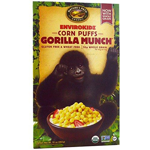 Nature's Path, EnviroKidz, Organic Corn Puffs Gorilla Munch Cereal, 10 oz (284 g) - 2pc