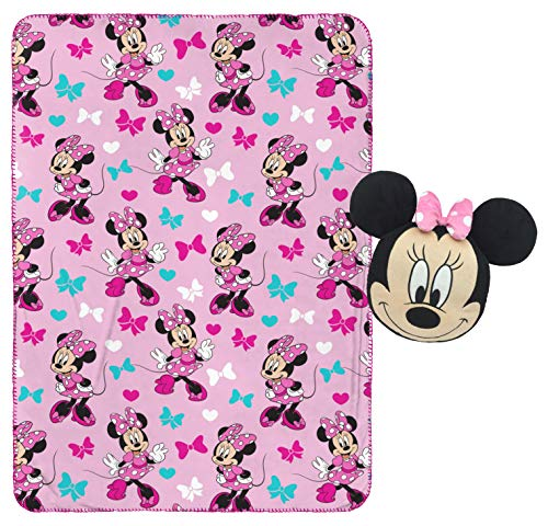 Jay Franco Minnie Mouse Plush Pillow and 40