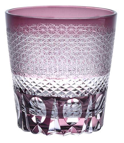 [QD-588] 切子 オールドグラス グラス コップ 伝統工芸 食洗器対応 (パープル)
