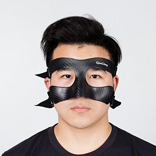 QianCheng Nasenschutzmaske, Karbonfaser-Schutzmaske, Twill-Gewebe-Muster, QC-Pro-TW