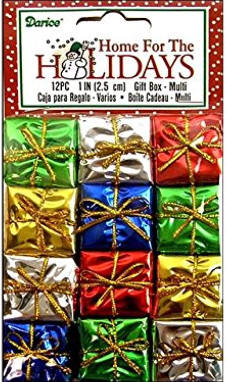 Unknown Package of 48 Decorative Miniature Foil Paper Wrapped Holiday Packages