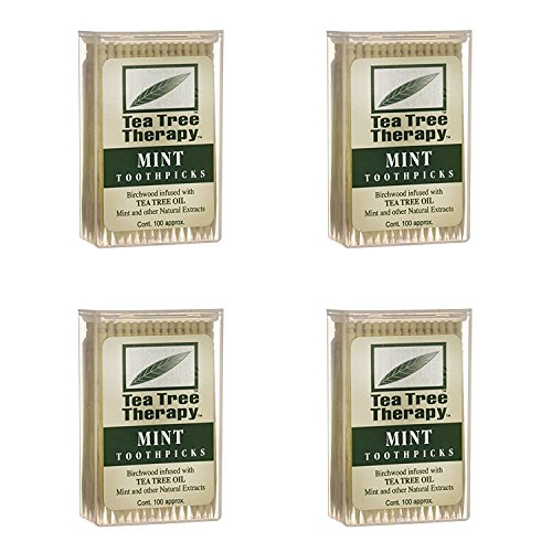 Tea Tree Therapy  Tea Tree amp Menthol Toothpicks 100 Count 4Pack