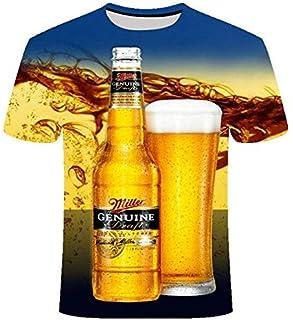 029 XXXL 2019 New 3D t Shirt Men's Beer/Burger/Poker Hip hop O Collar Short-Sleeved Men's/Women's t-Shirts Tshirt Tops Streatwear Camiset