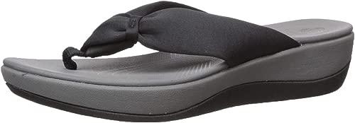 CLARKS damen Arla Glison schwarz Thong Sandal - 10