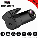 Yongf WiFi Car DVR Dash Camera HD 1080P 170 Degree Wide Angle 360° Rotation Mini Vehicle Video Recorder APP Monitor Night Vision for IOS Android Phone