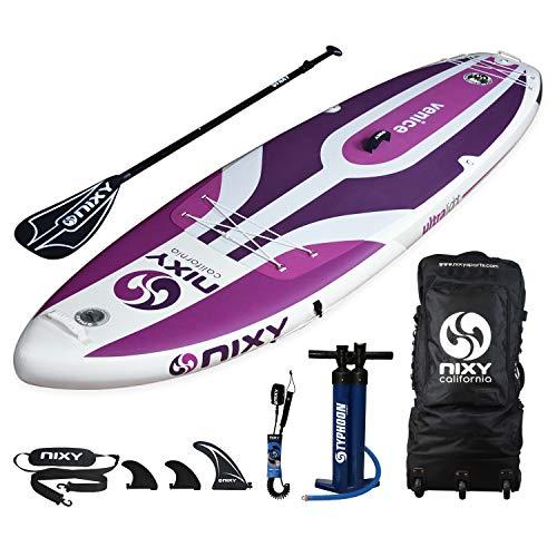 NIXY Paddle Board Venice : Planche de Paddle Board Gonflable idéale pour Niveau débutant et Yoga....