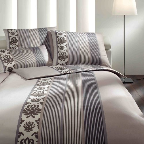 Joop! Bettwäsche Ornament Stripe 4022 Graphit - 77 80x80 cm - 135x200 cm
