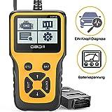 Beefix Diagnóstico de automóvil OBD2, escáner de Motor OBD2, Lector de código de Falla de automóvil, probador de Sensor de O2, Prueba de Voltaje de batería, para automóvil Europeo Desde 2000