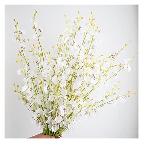 造花 家の装飾のためのシルクの造られた花のためのプラスチック茎の花の結婚式の結婚式の花束桜の偽の花d-i-y 美しく快適です (Color : 4)
