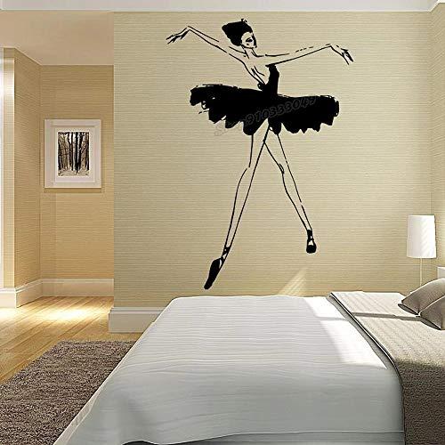 Ballet Ballerina Ballerina Gimnasia Dancing Studio Pointe Zapatos Vinilo Adhesivo de pared
