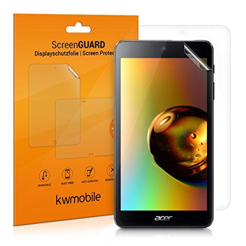 kwmobile 2X Folie kompatibel mit Acer Iconia One 7 (B1-790) - Full Screen Tablet Schutzfolie klar