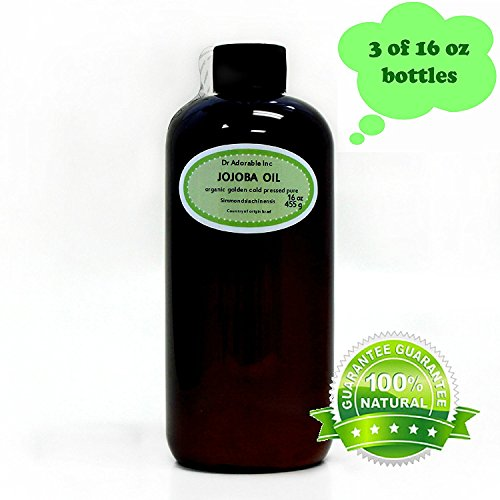 Jojoba Oil Golden Organic 100% Pure 48 Oz/ 3 Pints