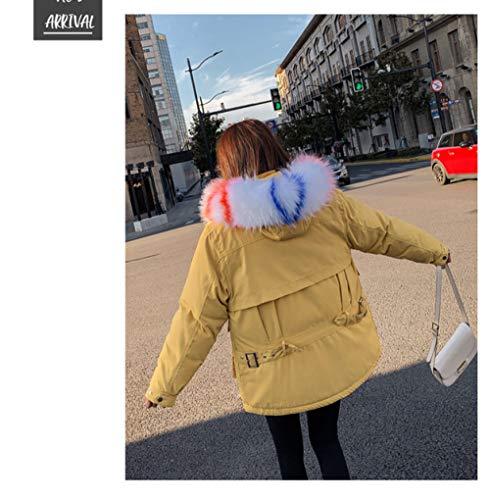 WFSDKN Dames Parka bontkraag donzen katoenen mantel dames winterjas mantel dik katoen warme lange jas dames outwear parka plus maat 2019