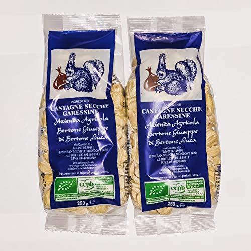 Castagne Secche Garessine Biologiche 500g (2 Confezioni da 250g)