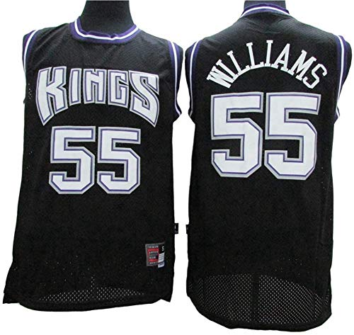 YZQ Jerseys - Men's Edition NBA Sacramento Kings # 55 Jason Williams - Camiseta Deportiva De Jersey De Baloncesto Camiseta Sin Mangas,M(170~175cm/65~75kg)