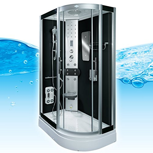 AcquaVapore DTP8060-7302R - Ducha de vapor (cabina de ducha de 80 x 120 cm, cierre EasyClean, con 2 cristales sellado)