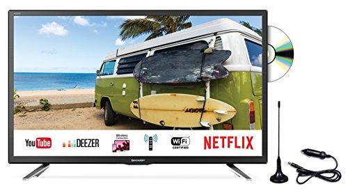 SHARP LC-24DFG6132EM 61 cm (24 Zoll) Fernseher (Full-HD Smart TV, Triple Tuner DVB-T/T2HD, DVB-S/S2, DVB-C, HEVC H.265)
