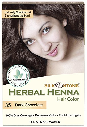 Herbal Henna Hair Color #35: Dark Chocolate (Dark Brown)