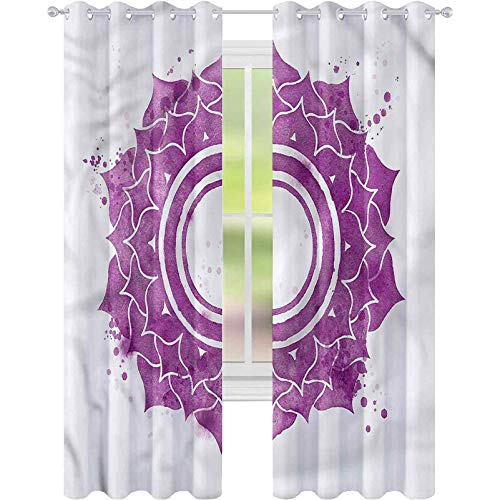 Cortina de ventana Chakra Splash W42 x L72 para sala de estar