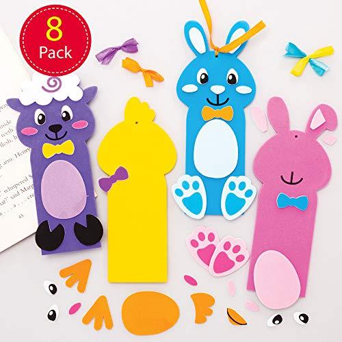 Baker Ross Pasen bladwijzers knutselset (8 stuks) kleine geschenken om te knutselen voor kinderen AT503
