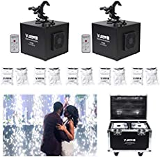 V-Show 650W DMX Spray Down Special Effect Machine With Remote for Stage Party Concert Wedding Machine (2pcs+10 bags powder +Case)
