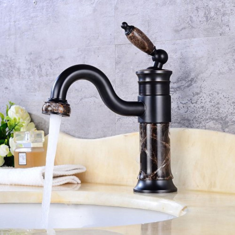 QIMEIM Wasserhahn Armatur Mischbatterie Waschtischarmatur Drehbar, Warmes und Kaltes Wasser mit einem Hebel der Einhebelsteuerung Badenzimmer Waschbecken Armatur