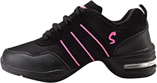 comprar comparacion Huatime Zapatillas de Deporte para Mujer Jazz - Suave Ligero Moderno Zapatos de Baile Malla Superior Suela de Goma Ata par...