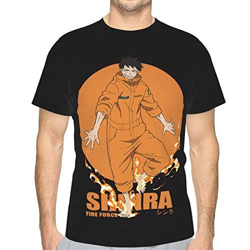 FXNOW Camiseta divertida para hombre Fire Force Shinra de manga corta