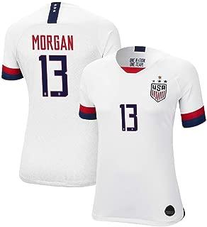 2019 Morgan #13 Home Soccer Jersey 4 Star Women's World Cup Jersey