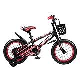 FUFU 12/14/16/18 Pulgadas Bicicletas De Carretera, Los Niños De La Bici con Las Ruedas De Entrenamiento Desmontable, 2-13 Años Chicos Y Chicas (Color : Red, Size : 16in)
