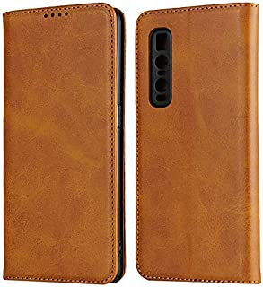 LINSMAO Cover Wallet Case for Oppo Find X2 Pro, Embedded Magnetic Closure Premium PU Leather Wallet Case with Holder/Card ...