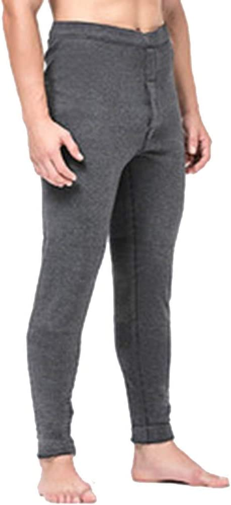 Thermal Pants NLIAN- Men's, Soft and Comfortable Slim Fit Warm Skin-Friendly Bottoms Trousers (Color : Light Gray, Size : XL)