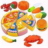 PHYLES Comida de Juguete, Alimentos de Juguete para Cortar, Eeducativos Juguete Set de Frutas...