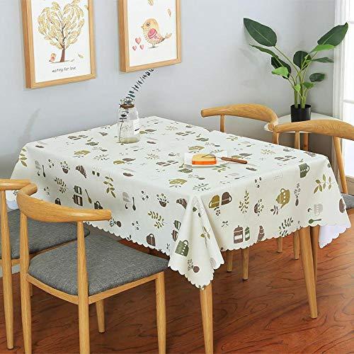 Dthlay tafelkleden van pvc, voor tuintafels, waterdicht, eenvoudig te reinigen, eenvoudige druk