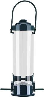Zerodis Colgante Wild Bird Feeder Contenedor de Semillas de plástico Transparente con Hanging Loop