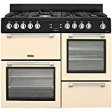Image of Leisure CK110F232 Gas Cooker A Black – Ovens and Cookers (Stove, Black, Buttons, Rotating, Front, Electronic, LED)