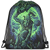 BFGTH bolsa con cordón Drawstring Bags Gym Bag Gloryhammer 'Legend Of The Astral Hammer' Fashion Unisex Drawstring Backpack Bag